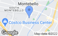 Map of Montebello, CA
