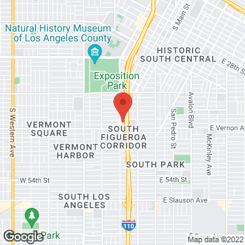 Map of Rite Aid at 4322 South Figueroa Street, Los Angeles, CA 90037