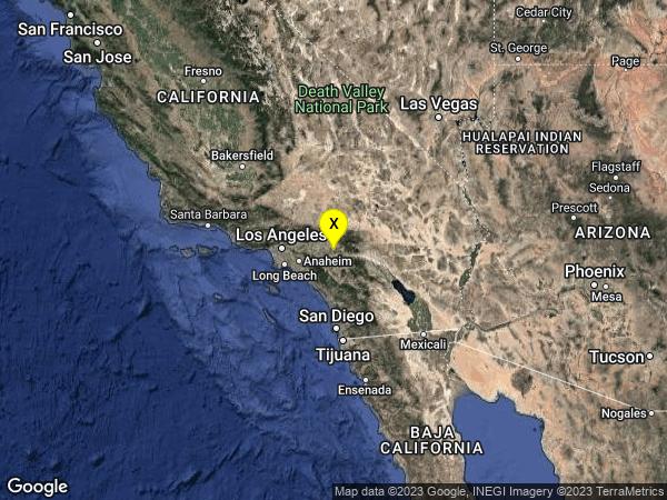 earthquake 5km SE of Loma Linda, CA