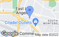 Map of East Los Angeles, CA