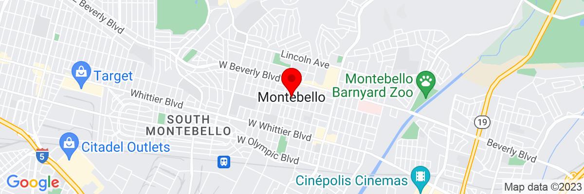 Google Map of 34.016505277778,-118.11375361111