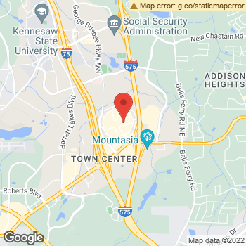 Map of Dr. Amit Rohatgi ODPC at 400 Barrett Parkway, Kennesaw, GA 30144