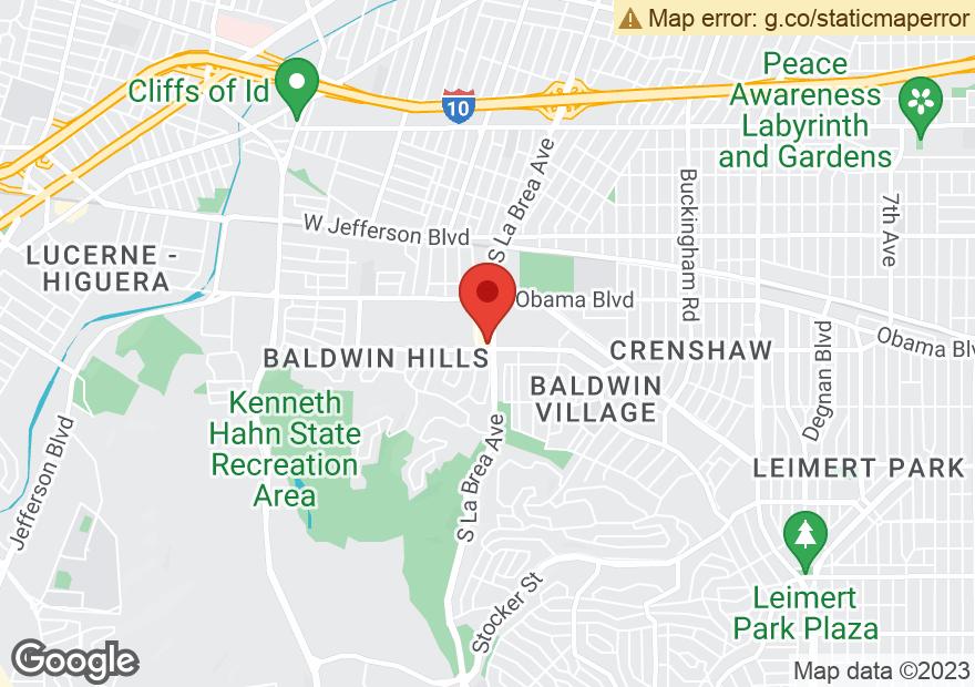 Google Map of 3745 S LA BREA AVE