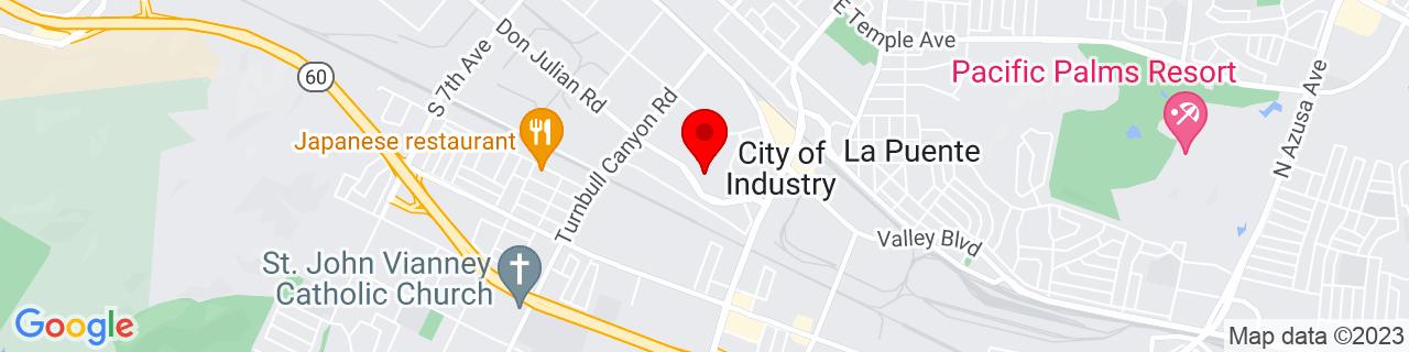 Google Map of 34.019296, -117.964682
