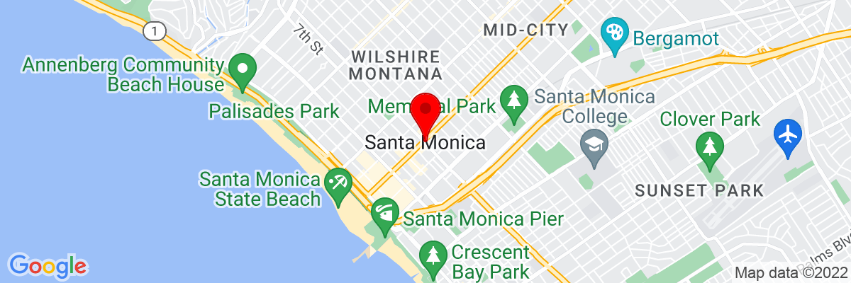 Google Map of 34.019454166667,-118.49119111111