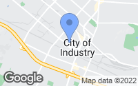 Map of City of Industry, CA