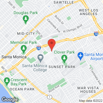Map of Rite Aid at 2412 Pico Boulevard, Santa Monica, CA 90405