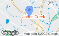 Map of Johns Creek, GA