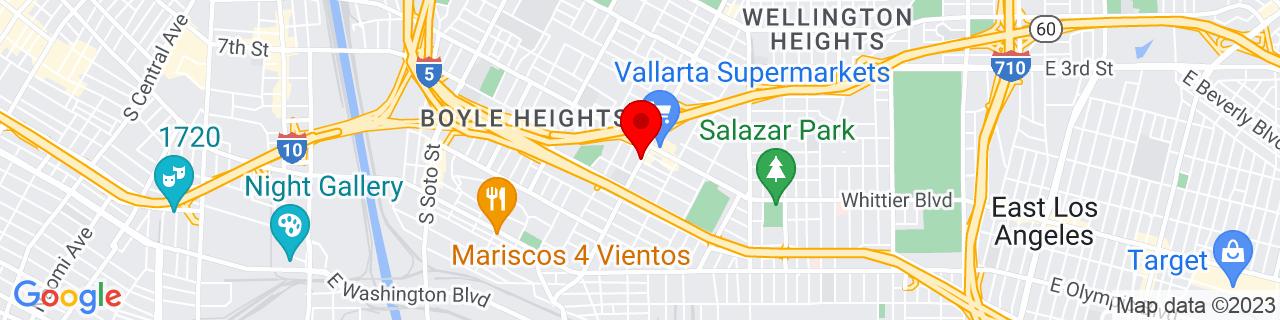 Google Map of 34.02673559999999, -118.2016712