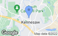 Map of Kennesaw, GA