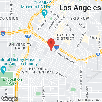 Map of Rite Aid at 446 East Washington Blvd, Los Angeles, CA 90015
