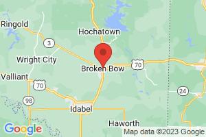 Map of Broken Bow