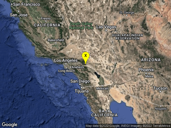 earthquake 14km NNE of Cabazon, CA