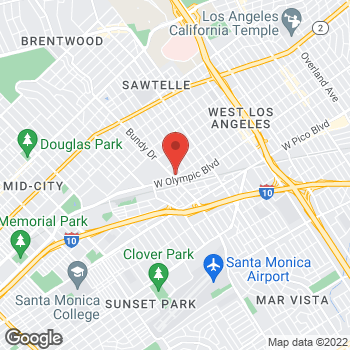 Map of Staples at 2052 Bundy Drive, West Los Angeles, CA 90025