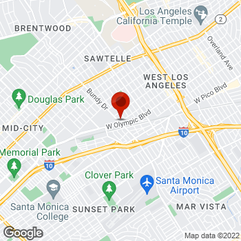 Map of Staples® Print & Marketing Services at 2052 Bundy Drive, West Los Angeles, CA 90025