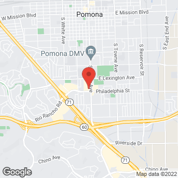 Map of Rite Aid at 2059 South Garey Avenue, Pomona, CA 91766