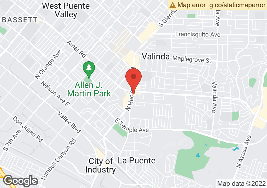 Google Map of 934 N HACIENDA BLVD