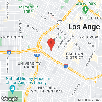 Map of Rehabilitation Department - California Hospital Medical Center - Los Angeles at 1401 S Grand Ave, Los Angeles, CA 90015