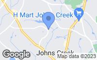 Map of Johns Creek, GA