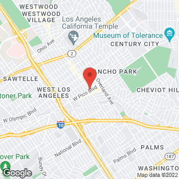 Map of Guitar Center at 10831 W Pico Blvd, Los Angeles, CA 90064