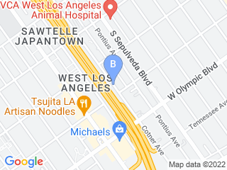 Map of K9s Only West Dog Boarding options in Los Angeles | Boarding