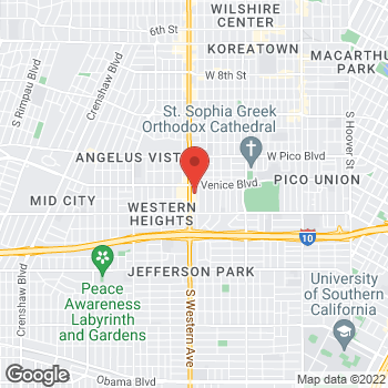 Map of Sprint at 1714 S Western Ave, Los Angeles, CA 90006