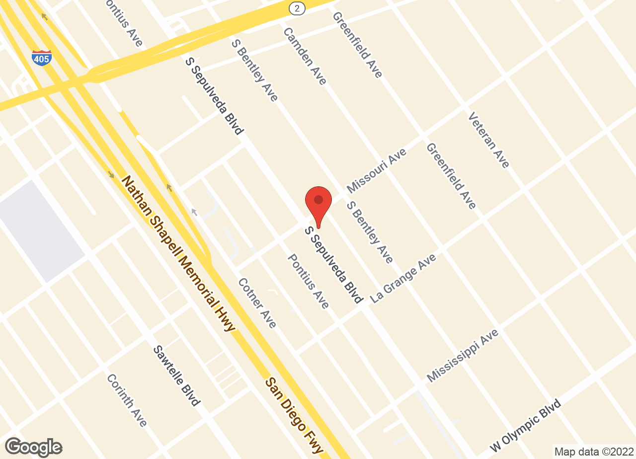 Google Map of VCA West Los Angeles Animal Hospital