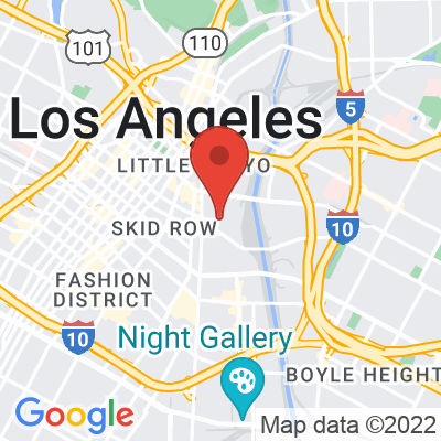 Map showing Groundwork Coffee (DTLA ARTS DISTRICT)