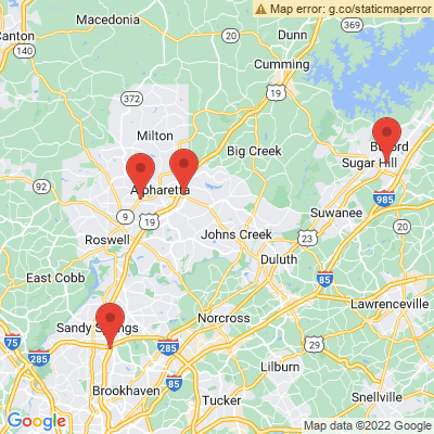 Google Map of The Orthopedic Sports Medicine Center of Atlanta locations