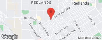 Map of 1263 Brookside Ave in Redlands