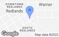 Map of Redlands, CA