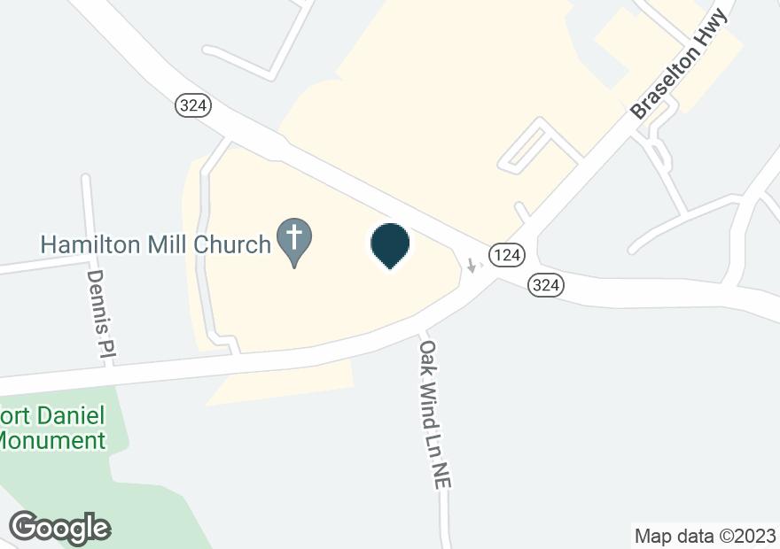 Google Map of2630 BRASELTON HWY