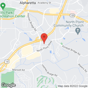 Map of Staples at 945 North Point Drive, Alpharetta, GA 30022