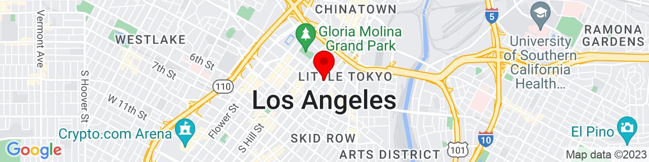 Google Map of 34.0522342, -118.2436849