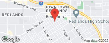 Map of 154 S 4th St in Redlands