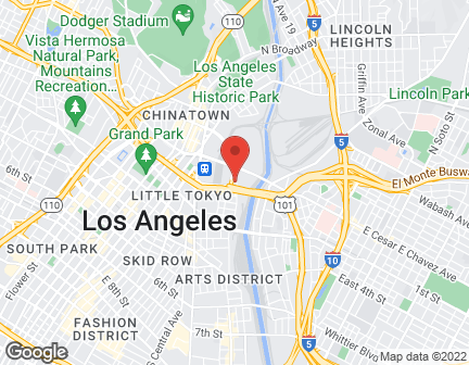 Map of 530 Ramirez St in Los Angeles