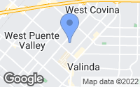 Map of West Covina, CA