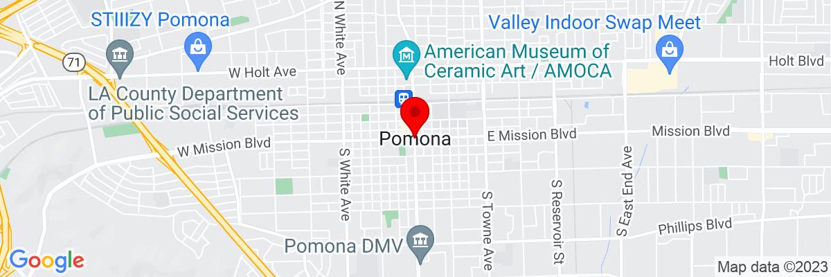 Google Map of 34.055103055556,-117.74999083333