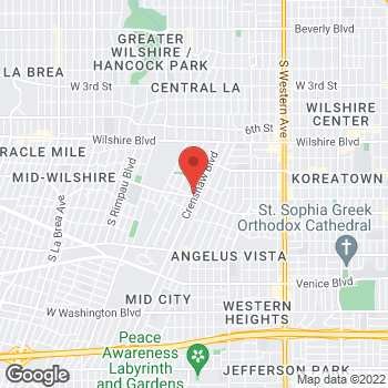 Map of Rite Aid at 959 Crenshaw Boulevard, Los Angeles, CA 90019