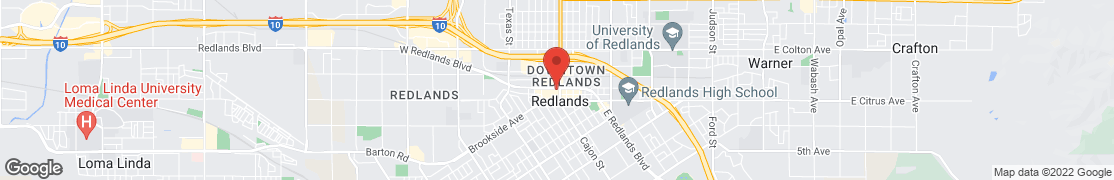 Map of 9 W Redlands Blvd in Redlands