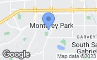 Map of Monterey Park, CA
