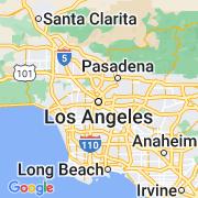Le thème Los Angeles sur notre carte histoire-géo