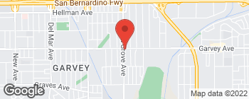 Map of 8604 Garvey Ave in Rosemead