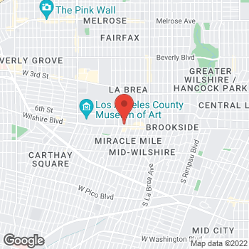 Map of Rite Aid at 5575 Wilshire Boulevard, Los Angeles, CA 90036