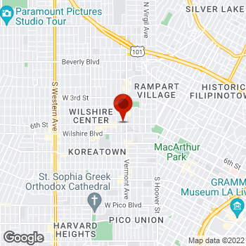 Map of Staples® Print & Marketing Services at 3223 West 6th Street, Los Angeles, CA 90020
