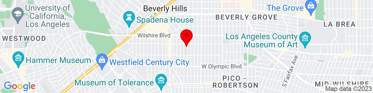 Google Map of 34.0642734, -118.3941593