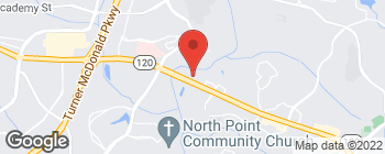 Map of 3518 Old Milton Pkwy in Alpharetta