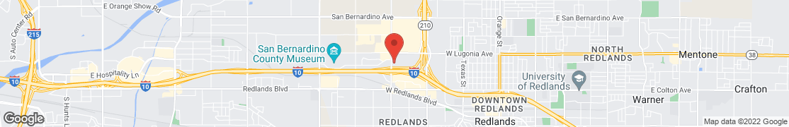Map of 1180 Alabama St. in Redlands
