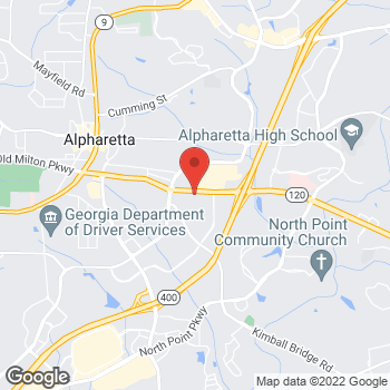 Map of Fifth Third Commercial Bank - Frank Goveaszzo at 2755 Old Milton Pkwy, Alpharetta, GA 30009