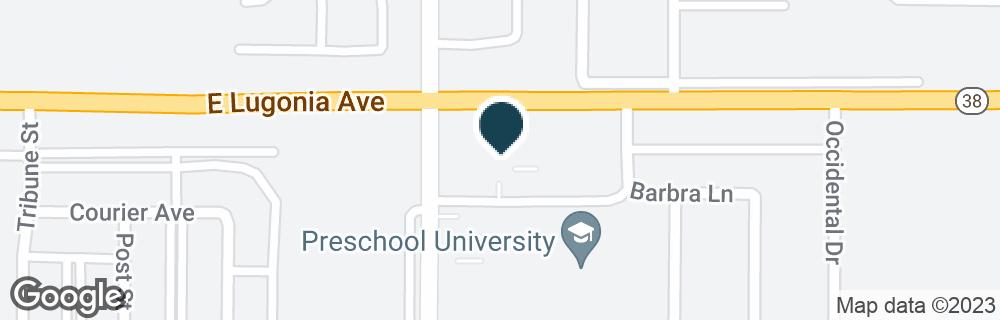 Google Map of800 E LUGONIA AVE